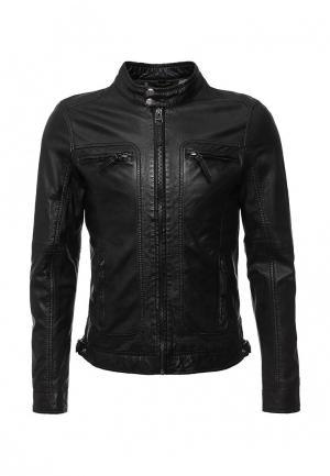 Куртка кожаная Oakwood casey. Цвет: черный
