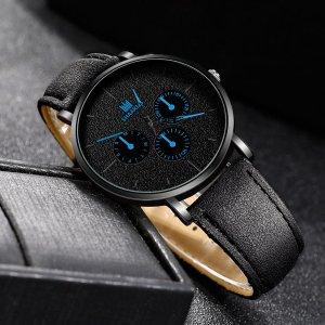 Мужские круглые кварцевые часы со стрелками SHEIN