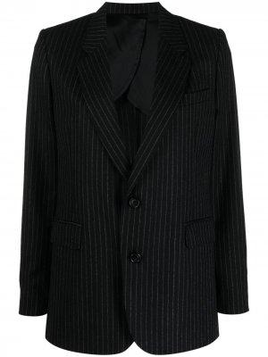 Однобортный пиджак в полоску AMI Paris. Цвет: черный
