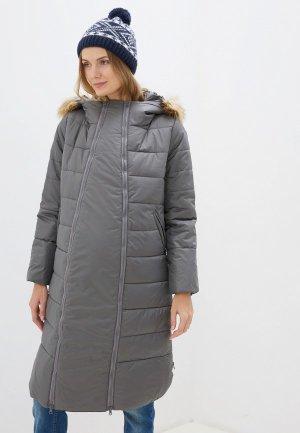 Куртка утепленная Мамуля красотуля ..в ожидании чуда. Цвет: серый