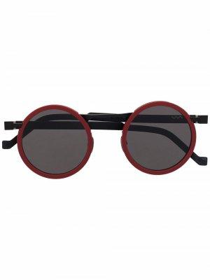 Солнцезащитные очки в круглой оправе VAVA Eyewear. Цвет: красный