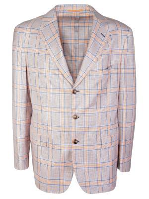Шерстяной пиджак ANDREA CAMPAGNA. Цвет: разноцветный