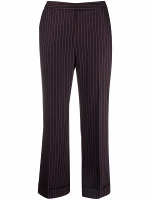 Укороченные брюки в тонкую полоску Aspesi. Цвет: красный