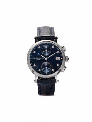Наручные часы Classics Quartz Chronograph 34 мм Frédérique Constant. Цвет: синий