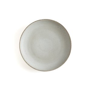 Комплект из 4 тарелок десертных LaRedoute. Цвет: серый