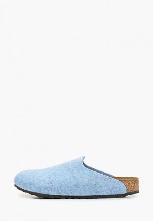 Сабо Birkenstock. Цвет: голубой