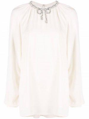 Блузка с бантом Giambattista Valli. Цвет: нейтральные цвета
