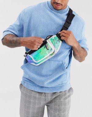 Сумка-кошелек на пояс со светоотражающими вставками -Очистить Slydes
