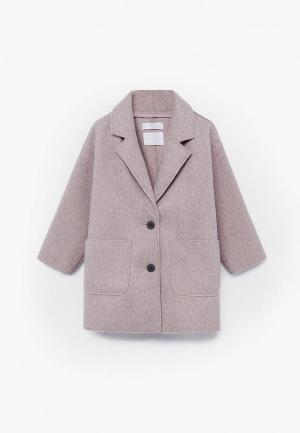 Пальто Mango Kids - PANOPB. Цвет: розовый