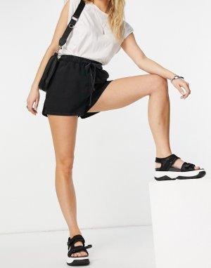Черные выбеленные джинсовые шорты-джоггеры (от комплекта) -Черный цвет ASOS DESIGN