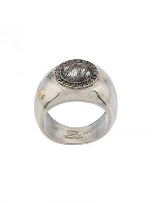Декорированный перстень Rosa Maria. Цвет: серебристый