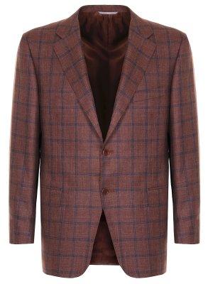 Пиджак из шерсти и шелка CANALI