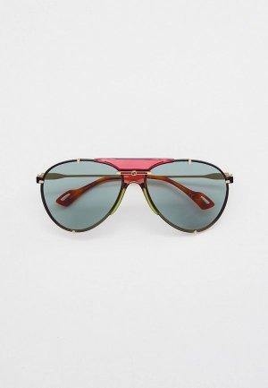 Очки солнцезащитные Gucci GG0740S. Цвет: золотой