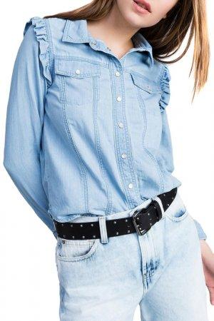 Рубашка MYTWIN. Цвет: голубой