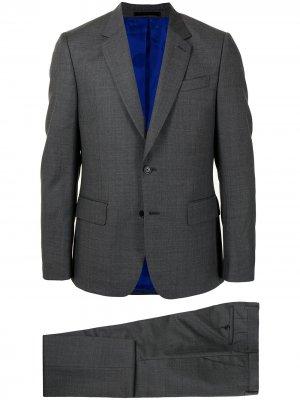 Костюм с однобортным пиджаком PAUL SMITH. Цвет: серый