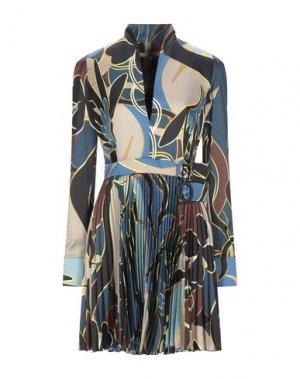 Короткое платье BABYLON. Цвет: синий