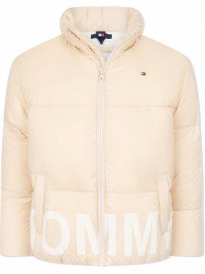 Padded high-neck jacket Tommy Hilfiger Junior. Цвет: нейтральные цвета
