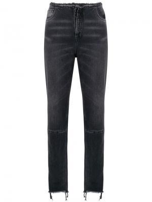 Зауженные джинсы с бахромой Unravel Project