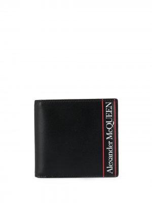 Кошелек с логотипом Alexander McQueen. Цвет: черный