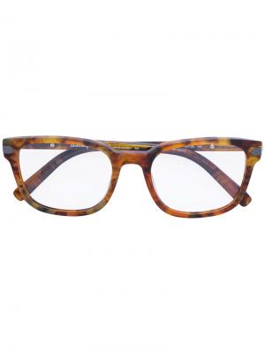 Square-frame optical glasses Salvatore Ferragamo Eyewear. Цвет: коричневый