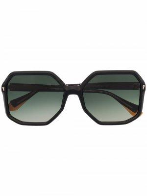 Солнцезащитные очки Kelly в массивной оправе GIGI STUDIOS. Цвет: черный