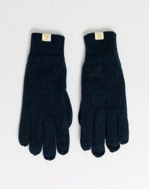 Темно-синие перчатки с подкладкой -Темно-синий Farah