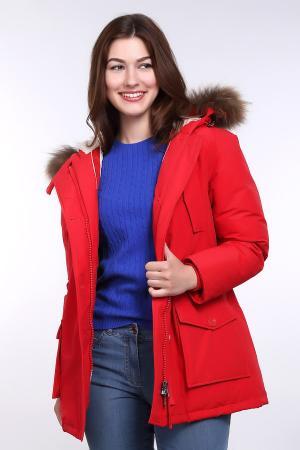 Куртка Just Valeri. Цвет: красный