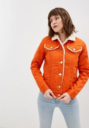 Куртка джинсовая Dasti. Цвет: оранжевый