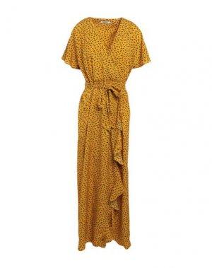 Длинное платье DRY LAKE.. Цвет: охра