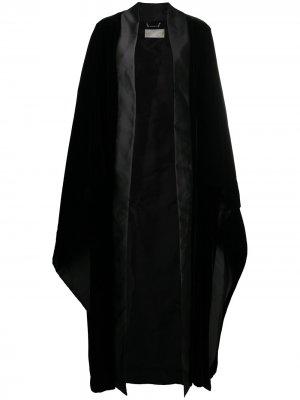 Длинное пальто-кейп Alberta Ferretti. Цвет: черный
