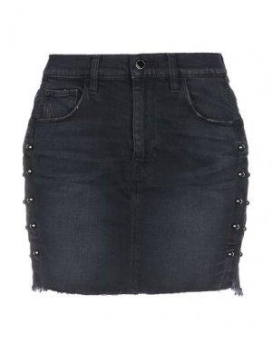 Джинсовая юбка HUDSON. Цвет: черный