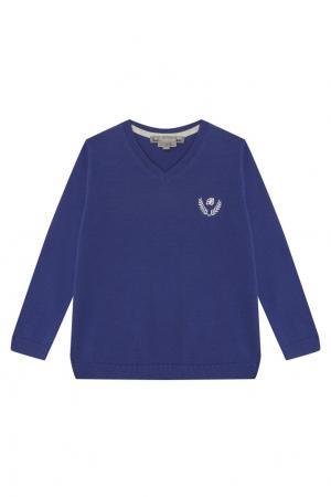 Синий пуловер с логотипом Bonpoint. Цвет: синий