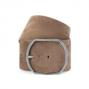 Замшевый ремень Brunello Cucinelli. Цвет: коричневый