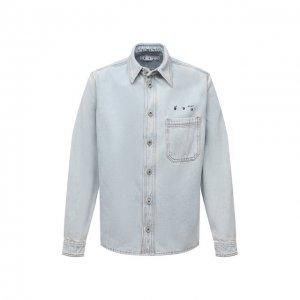 Джинсовая рубашка Off-White. Цвет: синий