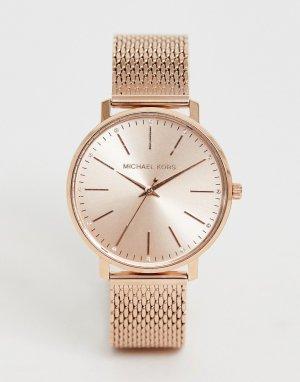 Золотисто-розовые часы MK4340 Pyper-Золотистый Michael Kors