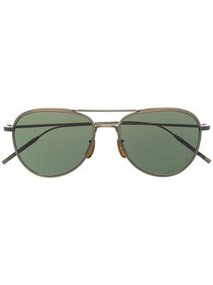 Солнцезащитные очки-авиаторы TK-3 Oliver Peoples. Цвет: коричневый
