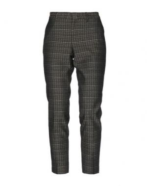 Повседневные брюки PT Torino. Цвет: темно-коричневый