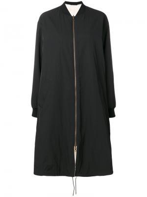 Куртка-бомбер свободного кроя Army Yves Salomon. Цвет: чёрный