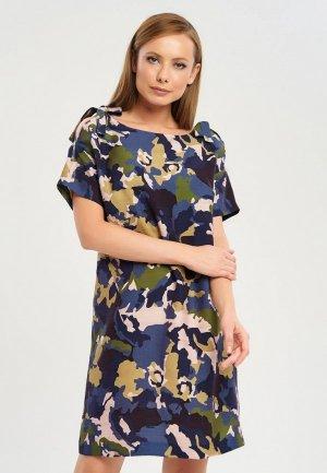 Платье Akimbo. Цвет: разноцветный