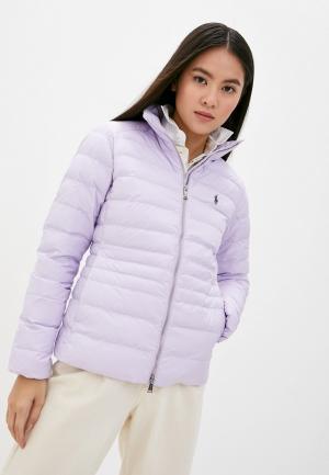 Куртка утепленная Polo Ralph Lauren. Цвет: фиолетовый