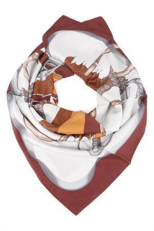 Платок F.FRANTELLI. Цвет: бордовый, коричневый, серый