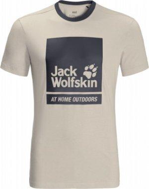 Футболка мужская Jack Wolfskin 365 Thunder, размер 54-56. Цвет: бежевый