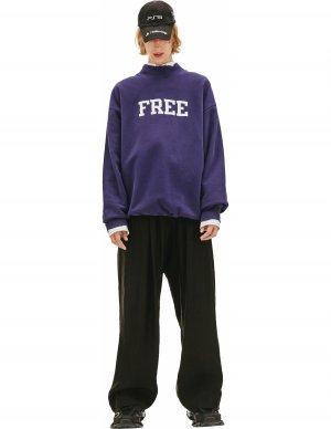 Оверсайз свитшот с принтом FREE Balenciaga
