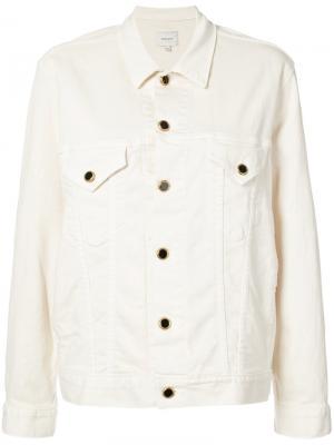 Классическая джинсовая куртка Khaite. Цвет: белый