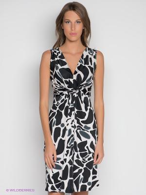 Платье DRS Deerose. Цвет: черный, молочный