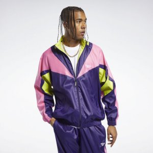 Спортивная куртка Classics Twin Vector Reebok. Цвет: mystic orchid