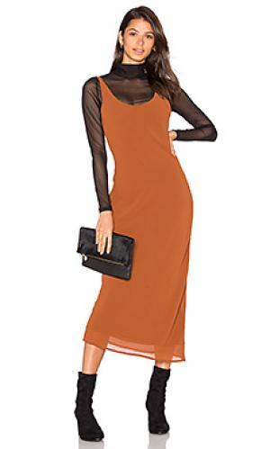 Rima bias maxi dress Line & Dot. Цвет: коричневый
