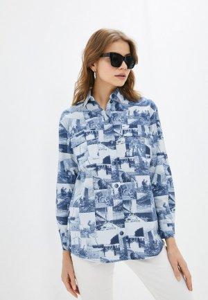 Рубашка Энсо. Цвет: синий