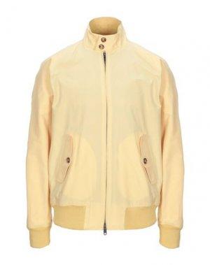 Куртка BARACUTA. Цвет: светло-желтый