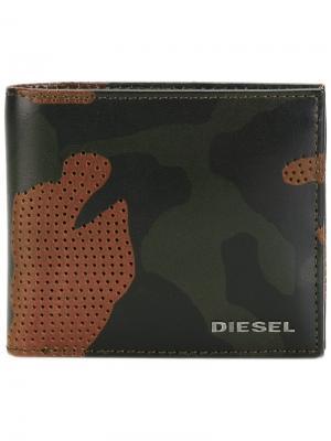 Визитница Camouflage Diesel. Цвет: коричневый